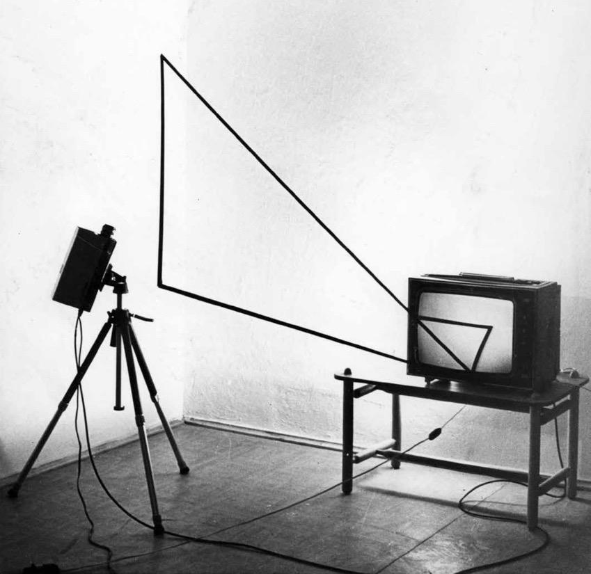 Paruzel Andrzej Instalacja video Trójkąt, 1977